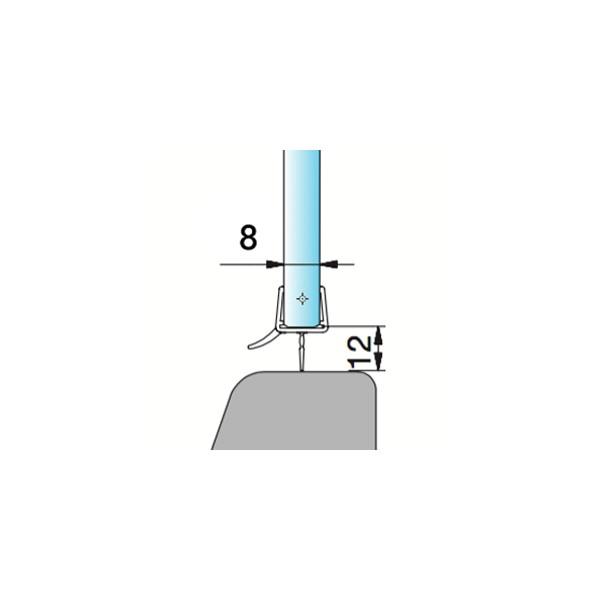 Joint double l vre pour bas de porte en verre - Joint bas de porte de douche en verre ...