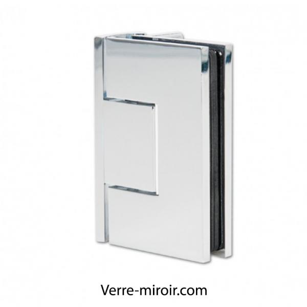 Kit porte de douche en verre anti calcaire - Paroi de douche miroir ...