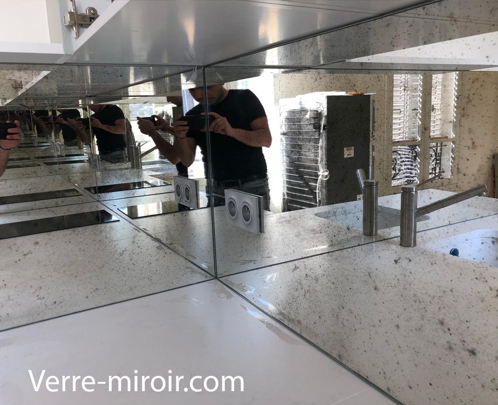 Credence cuisine miroir antico