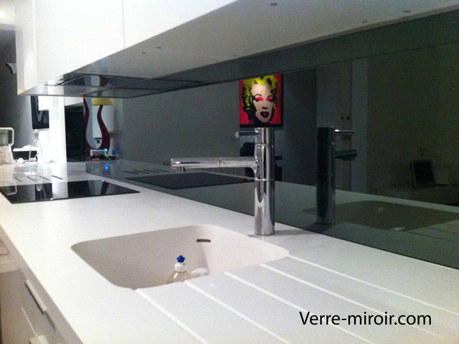Cr dence en miroir for Credence miroir