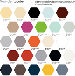 Nuancier de couleur lacobel
