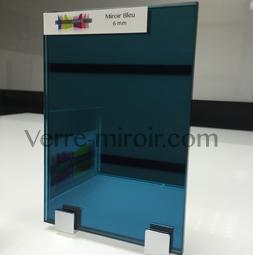 Miroir bleu sur mesure