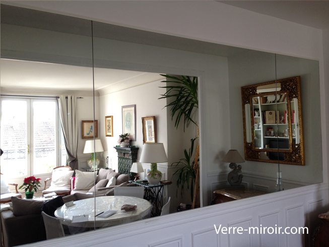 Miroir mural sur mesure for Grand miroir sol