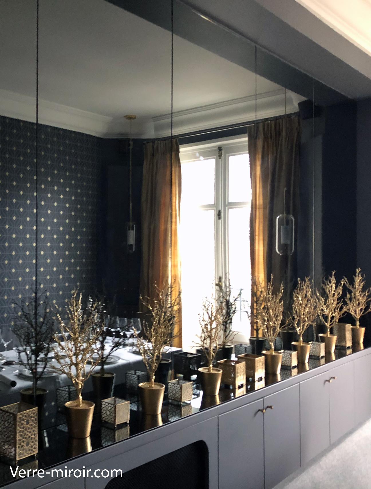 Miroir mural gris