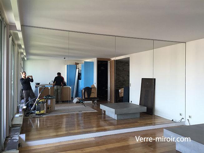 Miroir mural sur mesure for Miroir sejour