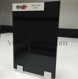 Miroir noir for Prix miroir sur mesure