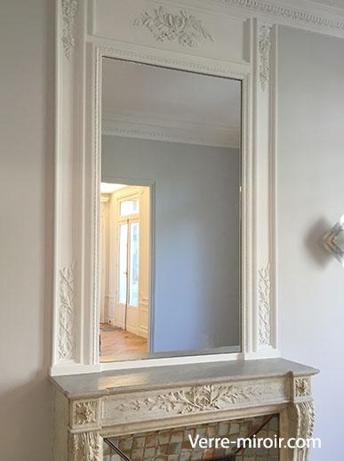 Miroir pour cheminé sur mesure