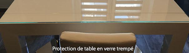 Protection de table en verre trempé
