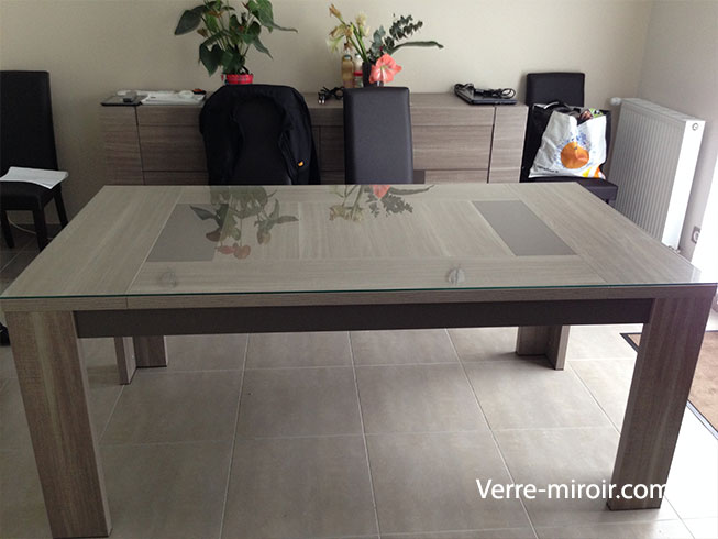 Protection de table en verre trempe - Table en verre trempe blanc ...