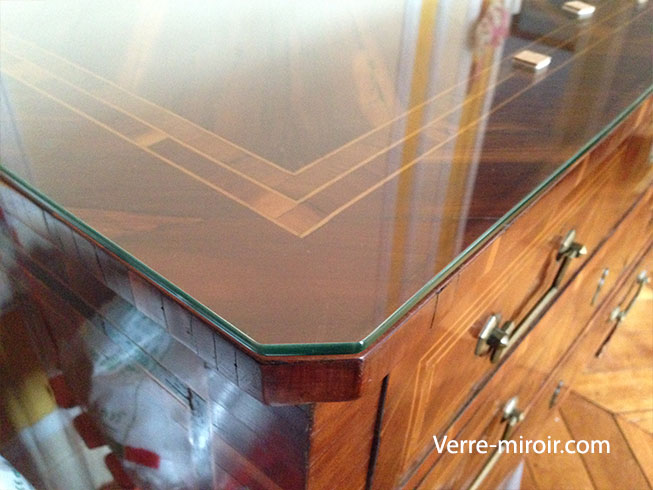 Protection de table en verre trempe - Plaque de verre sur mesure pour table ...