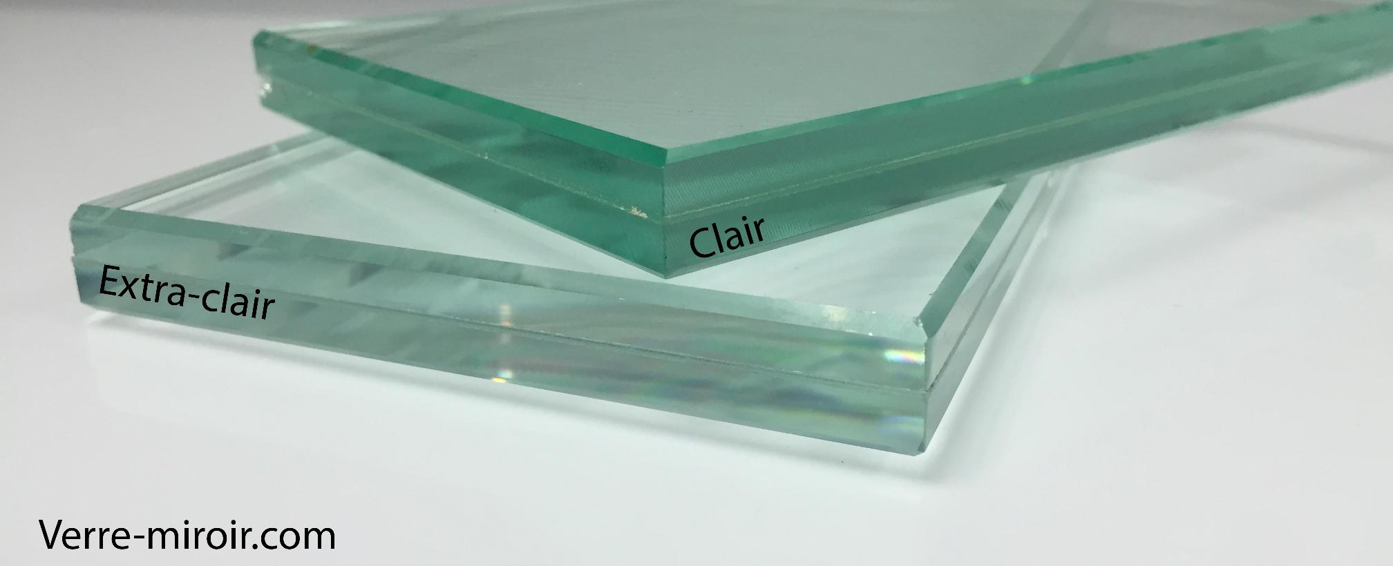 Verre feuillete clair vs extra-clair