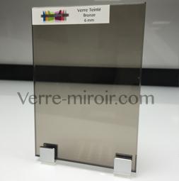 Verre tremp teint bronze for Miroir 0 coller