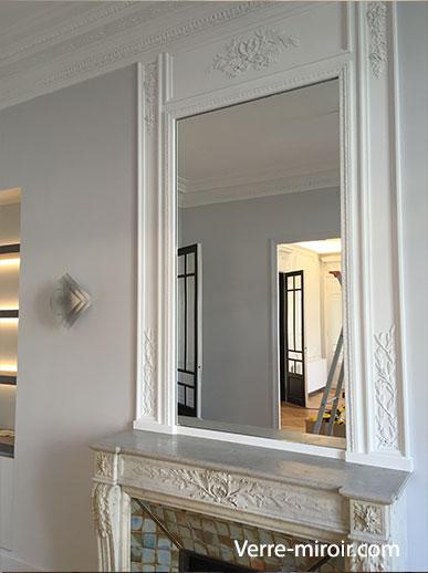 Miroir pour chemin e for Encadrement miroir sur mesure