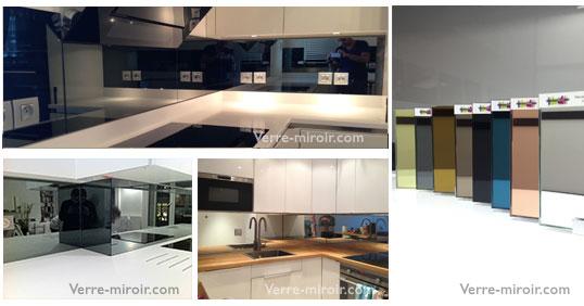crdence miroir pour cuisine cuisine blanche moderne faade stecia blanc brillant cuisine et. Black Bedroom Furniture Sets. Home Design Ideas