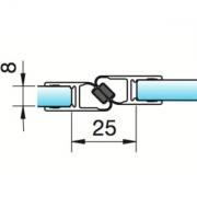 Joint d'étanchéité magnétique verre/verre