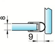 joint d'étanchéité bourrelet verre/verre à 90°