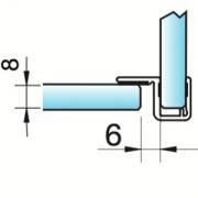 Joint d'étanchéité à lèvre déportée verre/verre à 90°