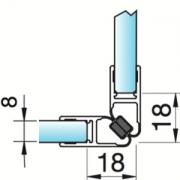 Joint d'étanchéité magnétique verre/verre 90°