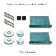 Fixation invisible pour miroir de 0,8 m2