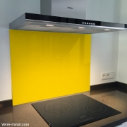 Fond de hotte verre jaune