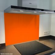 Fond de hotte verre orange