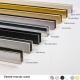 Profile U9 U12 clipper diffusion noir blanc or laiton inox