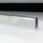 Profilé de douche en aluminium brillant
