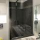 Paroi de douche fixe avec profile en U aluminium poli brillant