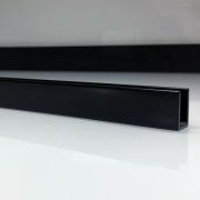 Profilé de douche en aluminium noir