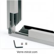 Profil f317 pour chassis fixe et séparation en verre