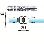 Joint d'étanchéité magnétique chromé verre/verre