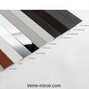 Plats aluminium 25x2 mm chromé - noir - blanc