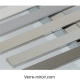 Plats aluminium chromé - noir - blanc