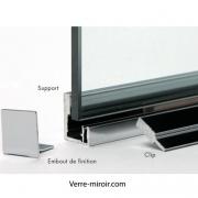 Profilé miroir atelier F209 en U à clip.