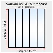Kit verrière atelier sur mesure jusqu'à H:145cm x 145cm