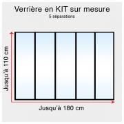 Kit verrière atelier sur mesure jusqu'à H:110cm x 180cm