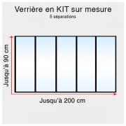 Kit verrière atelier sur mesure jusqu'à H:90cm x 200cm