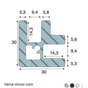 Profilé d'angle F209 clipper Diffusion