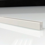 Profilé de douche blanc pour paroi fixe