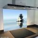 Fond de hotte verre imprimé personnalisé zen 4