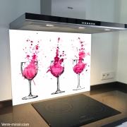 Fond de hotte verre imprimé personnalisé culinaire 1