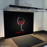 Fond de hotte verre imprimé personnalisé culinaire 2