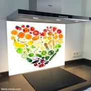 Fond de hotte verre imprimé personnalisé culinaire 4