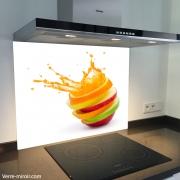 Fond de hotte verre imprimé personnalisé culinaire 5