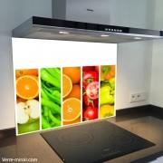 Fond de hotte verre imprimé personnalisé culinaire 8