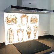 Fond de hotte verre imprimé personnalisé culinaire 9