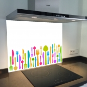 Fond de hotte verre imprimé personnalisé culinaire 11