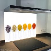 Fond de hotte verre imprimé personnalisé épice 5