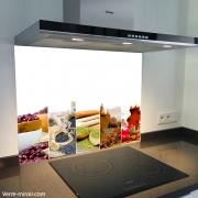 Fond de hotte verre imprimé personnalisé épice 6