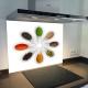Fond de hotte verre imprimé personnalisé épice 9